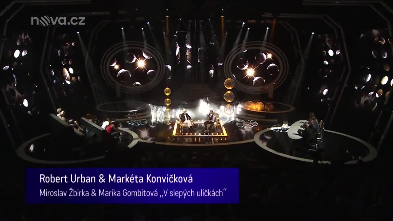 Robert Urban a Markéta Konvičková jako Miroslav Žbirka a Marika Gombitová – V slepých uličkách