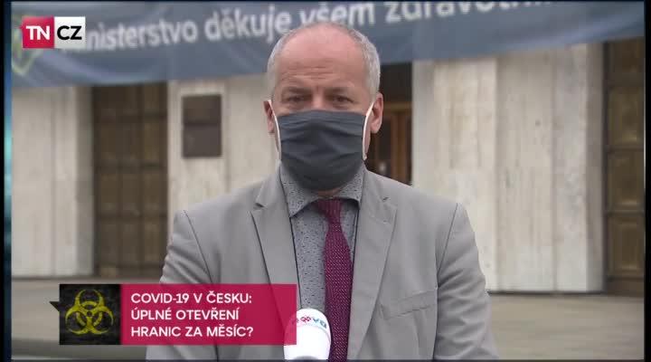 Náměstek ministra zdravotnictví Roman Prymula v Televizních novinách